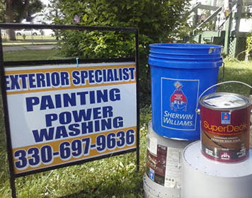 Exterior Specialist Sign and Sherwin Williams paint products